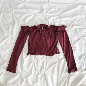 Pacsun burgundy cropped top